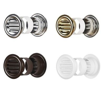 Round Bathroom Door Air Vent Grille 40mm Furniture Ventilation Cover