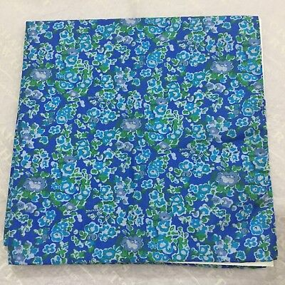 Mens Pocket Square CHARLES TYRWHITT Hand Made Italy Cotton BLUE Ditsy Floral