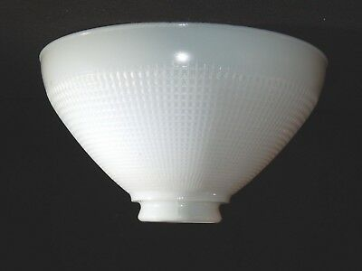 Vintage CORNING WHITE MILK GLASS TORCHIERE LAMP SHADE 82416 Waffle 10""