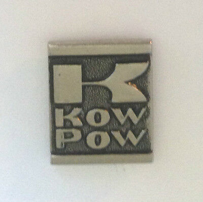 Vintage Kawasaki K  KOW POW  motorcycle P light metal lapel pin