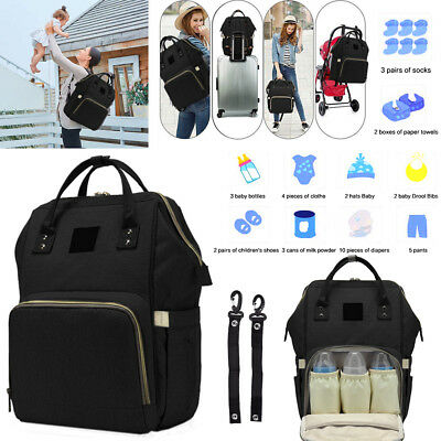 Waterproof Nappy Travel Backpack Multi-Function Diaper Bag with Straps BB022