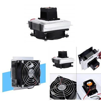 12V 6A 60W Thermoelectric Peltier Refrigeration Cooling System Kit Cooler Fan
