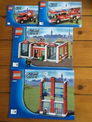Lego City Fire Station 7208 Instruction Booklets 1 4 Booklet Only