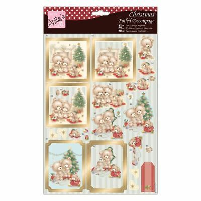 Do-Crafts Anita Christmas Foiled Decoupage-Beary Merry Christmas for cards/craft