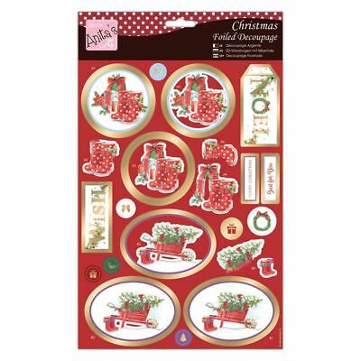 Do-Crafts Anita Christmas Foiled Decoupage-Snowy Outdoors for cards/craft