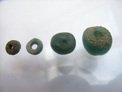 4 Ancient Egyptian Glass Beads, Egypt, VERY RARE!