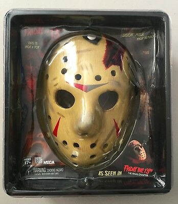 NECA Friday the 13th Part IV JASON VOORHEES Hockey Mask Prop Replica Brand New
