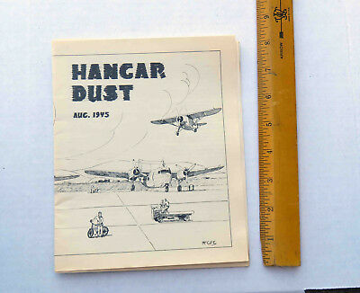Original WW2 Aug 15 1945 Hanger Dust USMC El Toro Ca Base News Letter Mag 20 pg
