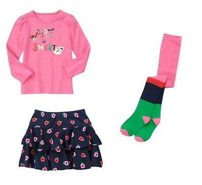 NWT Gymboree Brightest In Class Sequin Apple Tee Skort Outfit Girl Size 8 or 12