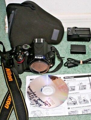 "USED Nikon D5100 16.2MP,3"" Fold LCD+BODY ONLY, VERY VERY LOW 3289 CLICKS"