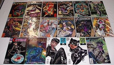**catwoman Lot Of 17 Comics**dc**batman**bad Girl**selina Kyle**defiant**annuals