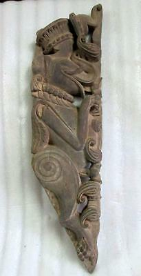 Antique Old Collectible Rare Wooden Hand Carved Elephant Figure Door Wall Penal