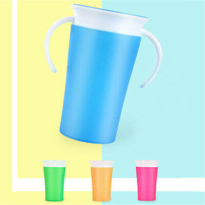 360 Degree Leak-proof Double Handle Baby Learning Drinking Water Cup Bottle RAHX