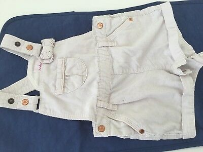 ted baker girls 3-6months pink dungarees.