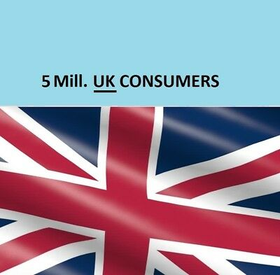 ✅  UK Consumers Directory (5 MILL.) B2B Mailing Email Database List Marketing