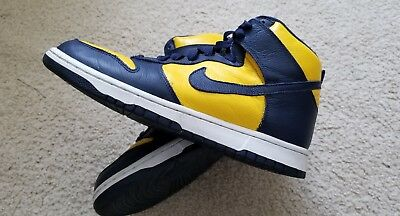 promo code bbc38 7147b Size 9.5 Nike Dunk Retro QS Michigan Wolverines Maize Navy CAL Bears 850477  700