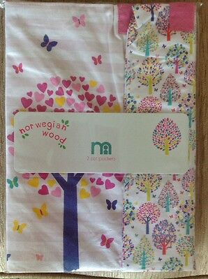 Mothercare Norwegian Wood Pack Of 2 Cot Pockets...Bnip