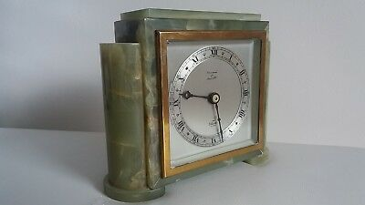 "Quality Art Deco ""elliott Of London "" Oynx Clock. Retailed By Greenwood Of Leeds"