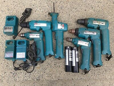 MAKITA 4390D 9.6V Reciprocating Saw & 6095D Drill, Charger, 2 Batteries! & More!