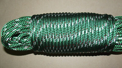 """3/8"""" (10mm) x 84' Double Braid Sail/Halyard Line, Jibsheets, Boat Rope -- NEW"""