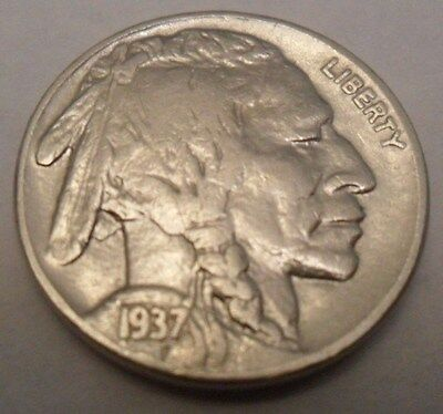 "1937 P Indian Head ""buffalo"" Nickel  *good Or Better*  **free Shipping**"