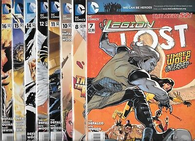 Legion Lost Lot Of 8 - #7 #8 #10 #11 #12 #14 #15 #16 (Nm-) Of Super Heroes