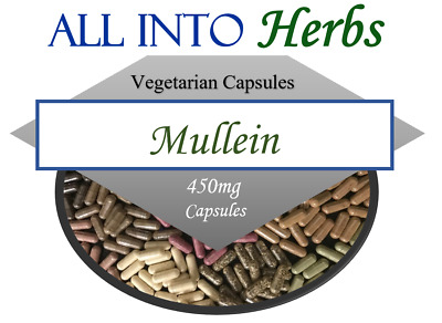 Mullein Wildcrafted Vegetarian Capsules QTY 20 - 1000