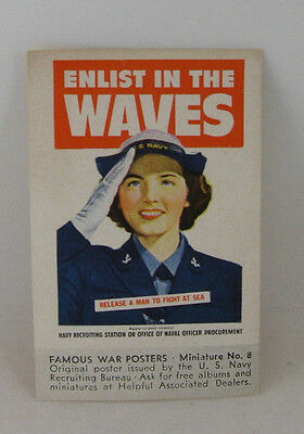 Cinderella Stamp ENLIST IN THE WAVES - Famous WWII War Posters Miniature 1943