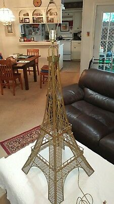 Metal Paris Eiffel Tower Table Lamp, Bulb Not Included