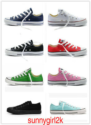 Women Men Canvas ALL STARs Chuck Taylor Ox Low High Top casual   Sneakers  shoes