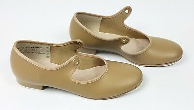 Capezio Jr. Tyette Caramel Tap Shoes Girls Size 2M #625C Tan Toe Dance Fashion