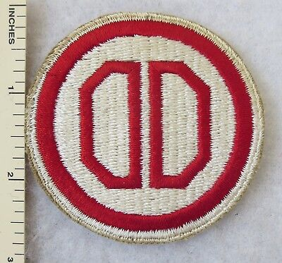WW2 Vintage 31st INFANTRY DIVISION US ARMY PATCH White Border ORIGINAL Cut Edge