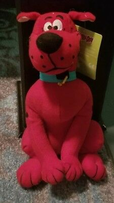 "RARE NWT Scooby Doo Plush Red Cartoon Network Stuffed 14"" Toy Stuffed Animal"
