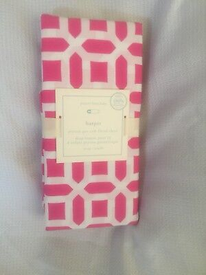 Pottery Barn Baby Pink Peyton Crib Toddler Fitted Sheet NWT