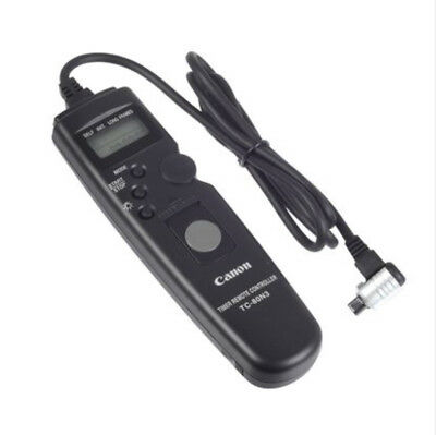 TC-80N3 Timer Remote Switch Shutter Release Cord for Canon Camera 7D 7D2 6D