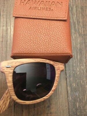 Hawaiian Airlines Foldable Light Wood Sunglasses