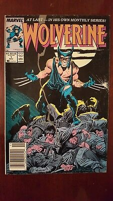 Wolverine #1 1988 - Key Issue!! - 1st appearance of Wolverine as Patch!! VG+