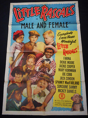 Male And Female R51 * Our Gang * Little Rascals * Spanky * Hal Roach Comedy 1Sht