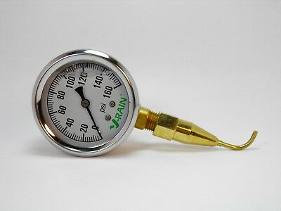 Check Your Psi Fast At The Sprinkler - Qualityliquid Filled Gauge N Pitot Tube