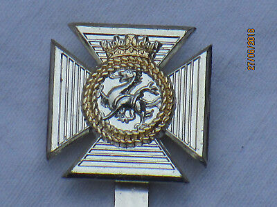Duke of Edinburghs Royal Regiment, Anodised Aluminium Staybright, London Badge &