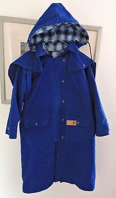 Bush Cooee Blue Dry As A Bone Jacket/ Horse Riding Size 10 Very Good Con