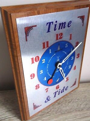 wall clock with low Tide high tide timer  Nautical