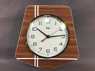 antique wall clock electric ODO vintage deco kitchen french antique