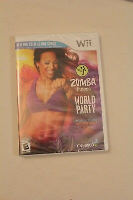 Wii Zumba Fitness World Party New In Package Workout Video Game Only
