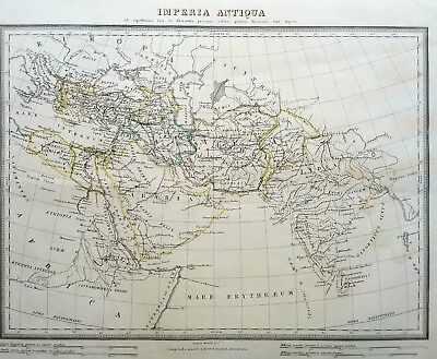 Antique map IMPERIA ANTIQUA. Expeditions in Syria and Alexandra