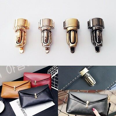 Leather Bag Case Handbag Purse Tuck Lock Column Closure Catch Clasp Buckle