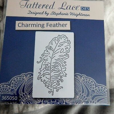CHARMING FEATHER  DIE D1203 - TATTERED LACE Stephanie Weightman