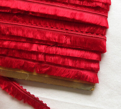 Beautfiuf Vintage Valentine Red Silk Fringe Nice Quality French