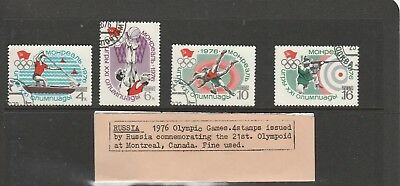 Russia  1976 , Montreal Olympic Games  set of 4 Fine used Stamps