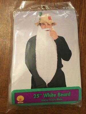 "Rubies 25"" Long White Character Beard for a Halloween Costume New"